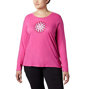 Women's Tested Tough in Pink™ LS Graphic Tee - Plus Size