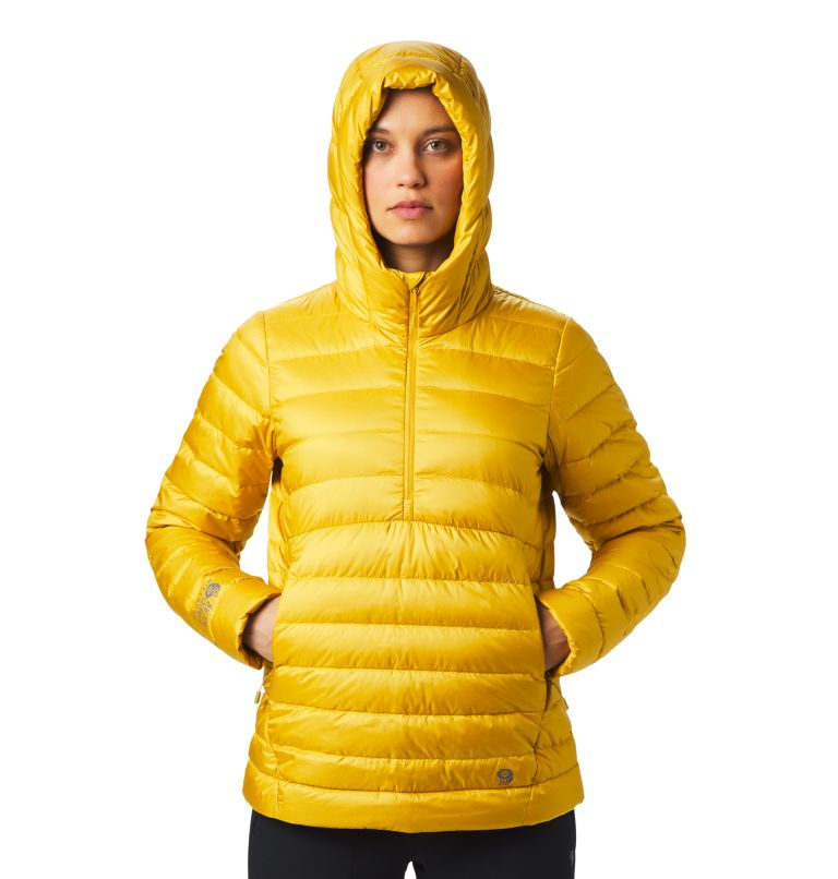 Rhea Ridge™ Pullover | 750 | S Women's Rhea Ridge/2™ Down Pullover, Gold Hour, a3