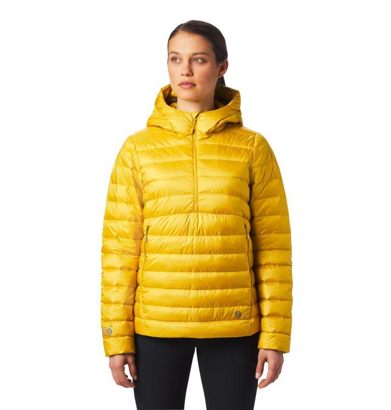 Rhea Ridge™ Pullover | 750 | S Women's Rhea Ridge/2™ Down Pullover, Gold Hour, front