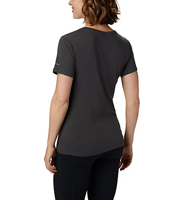 Women's Outer Bounds™ Short Sleeve Tee Outer Bounds™ SS Tee | 031 | S, Charcoal Heather, Buffalo Check, back