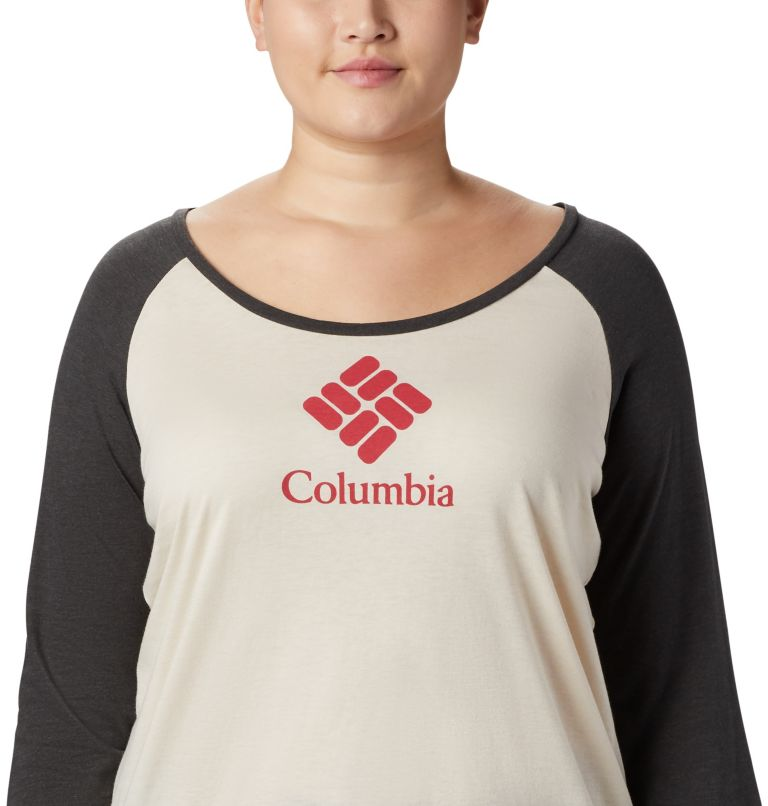 Women's Columbia Lodge™ 3/4 Sleeve Tee - Plus Size Women's Columbia Lodge™ 3/4 Sleeve Tee - Plus Size, a1