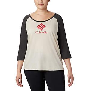 Women's Columbia Lodge™ 3/4 Sleeve Tee - Plus Size