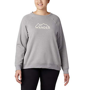 Women's Hart Mountain™ Long Sleeve Graphic Crew - Plus Size