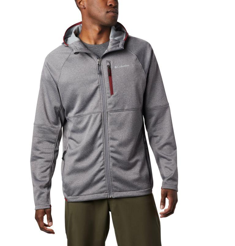 Men's Outdoor Elements Hooded Full Zip Jacket Men's Outdoor Elements Hooded Full Zip Jacket, front