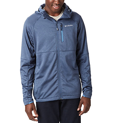 Men's Outdoor Elements Hooded Full Zip Jacket , front