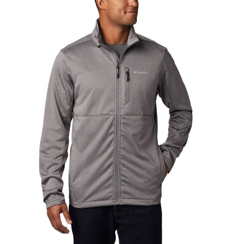 Outdoor Elements™ Full Zip | 023 | M Men's Outdoor Elements Full Zip Jacket, City Grey, front