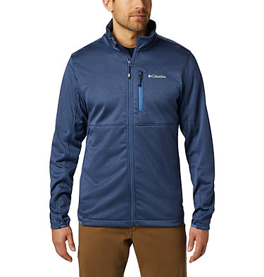 Men's Outdoor Elements Jacket Outdoor Elements™ Full Zip | 010 | L, Dark Mountain, Scout Blue, front