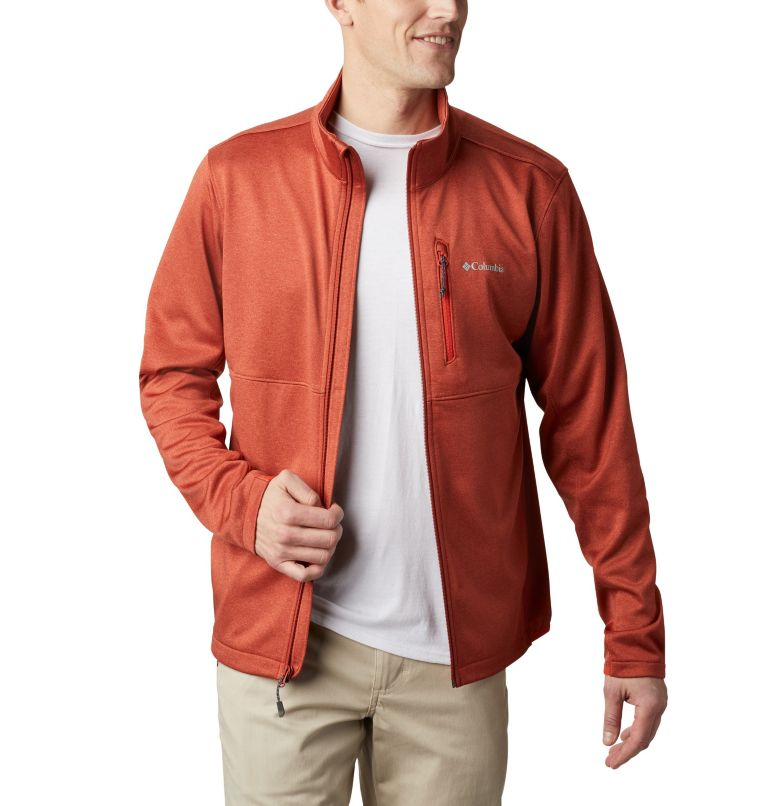 Outdoor Elements™ Full Zip | 835 | XL Men's Outdoor Elements Jacket, Carnelian Red, Wildfire, front