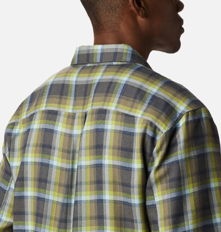 Silver Ridge™ 2.0 Flannel | 386 | M Men's Silver Ridge™ 2.0 Flannel Shirt, Bright Chartreuse Ombre Plaid, a3