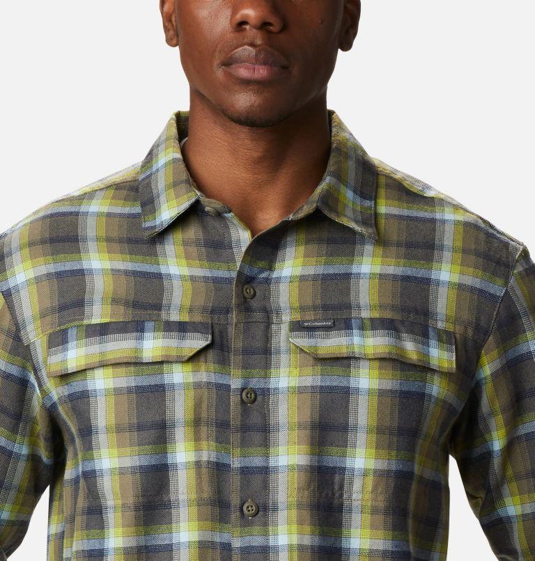 Silver Ridge™ 2.0 Flannel | 386 | 4X Men's Silver Ridge™ 2.0 Flannel Shirt - Big, Bright Chartreuse Ombre Plaid, a2