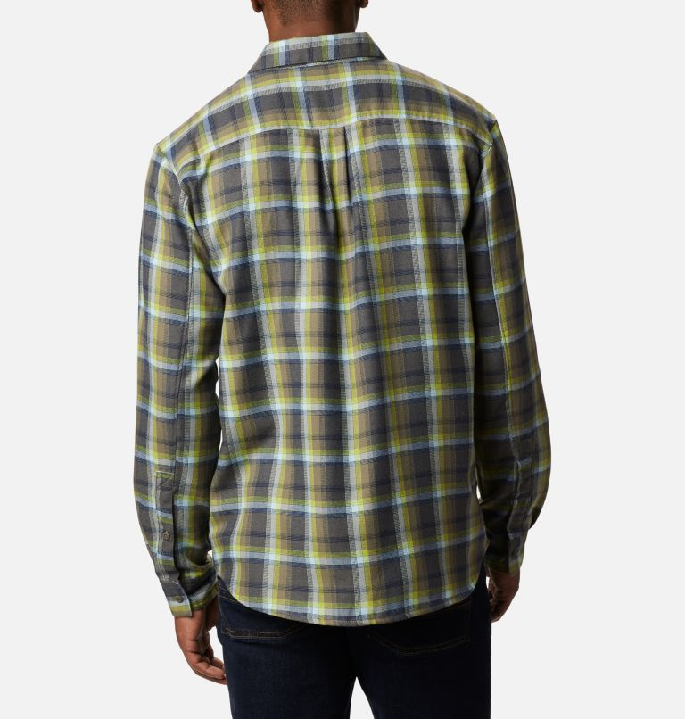 Silver Ridge™ 2.0 Flannel | 386 | 4X Men's Silver Ridge™ 2.0 Flannel Shirt - Big, Bright Chartreuse Ombre Plaid, back