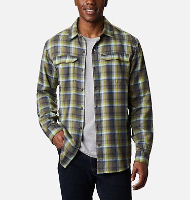 Men's Silver Ridge™ 2.0 Flannel Shirt - Big Silver Ridge™ 2.0 Flannel | 386 | 1X, Bright Chartreuse Ombre Plaid, front