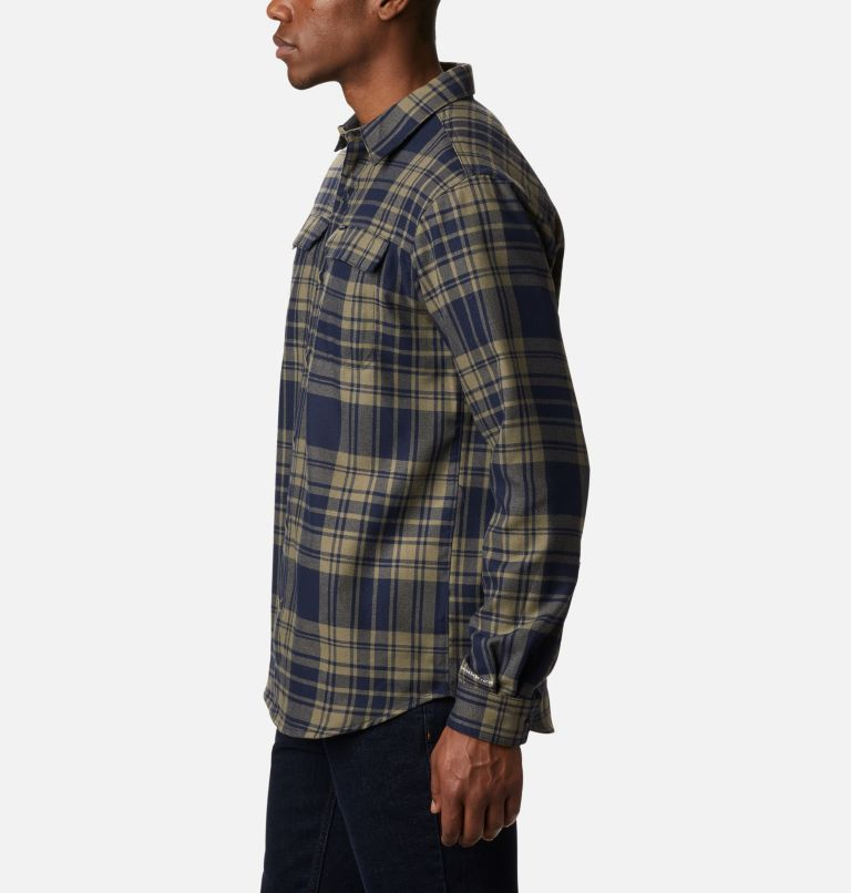 Silver Ridge™ 2.0 Flannel | 397 | 4X Men's Silver Ridge™ 2.0 Flannel Shirt - Big, Stone Green Flannel, a1