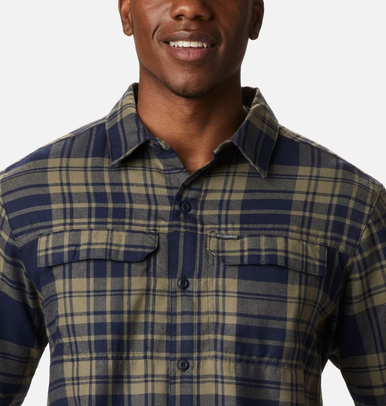 Silver Ridge™ 2.0 Flannel | 397 | 4X Men's Silver Ridge™ 2.0 Flannel Shirt - Big, Stone Green Flannel, a2