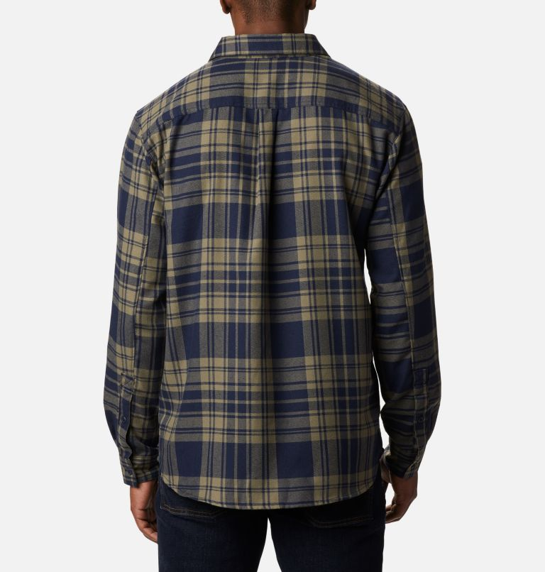 Silver Ridge™ 2.0 Flannel | 397 | 4X Men's Silver Ridge™ 2.0 Flannel Shirt - Big, Stone Green Flannel, back