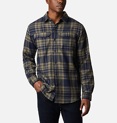 Men's Silver Ridge™ 2.0 Flannel Shirt - Big Silver Ridge™ 2.0 Flannel | 397 | 3X, Stone Green Flannel, front