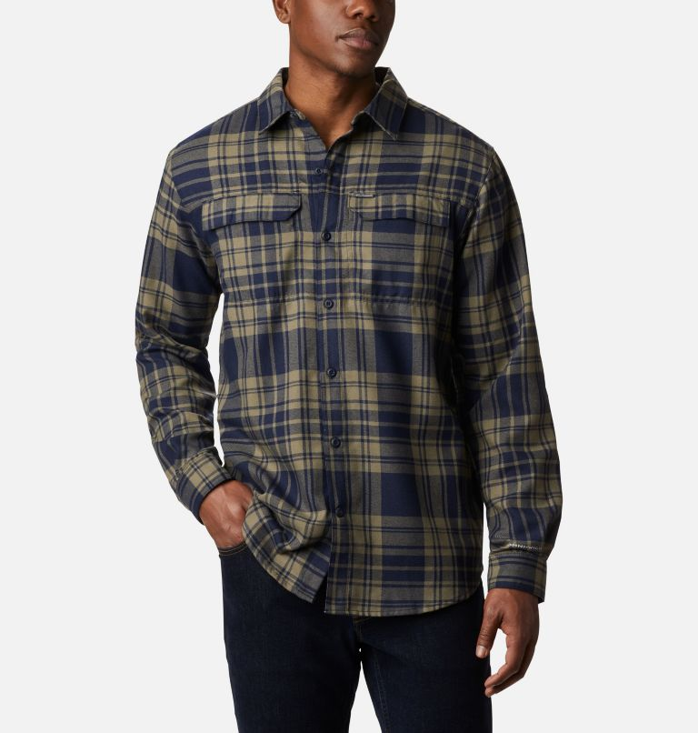 Silver Ridge™ 2.0 Flannel | 397 | 4X Men's Silver Ridge™ 2.0 Flannel Shirt - Big, Stone Green Flannel, front