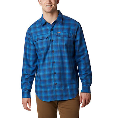 Men's Silver Ridge™ 2.0 Flannel Shirt - Big Silver Ridge™ 2.0 Flannel | 039 | 1X, Azure Plaid, front