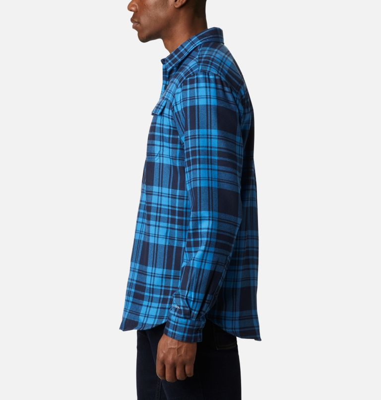 Silver Ridge™ 2.0 Flannel | 464 | 1X Men's Silver Ridge™ 2.0 Flannel Shirt - Big, Collegiate Navy Flannel, a1