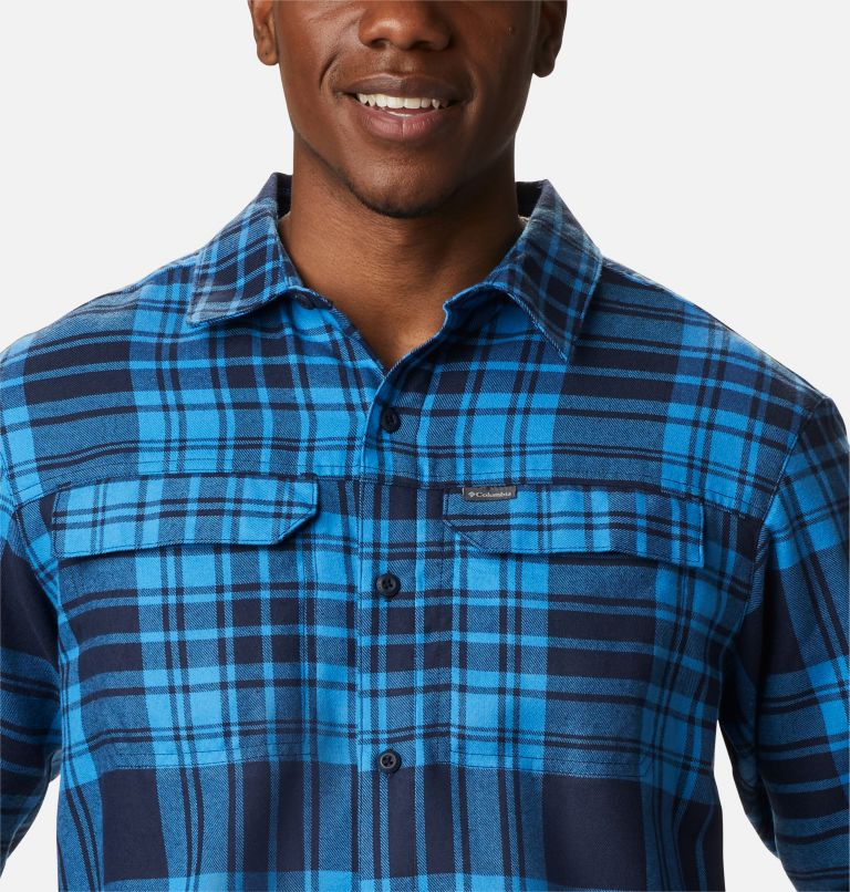 Silver Ridge™ 2.0 Flannel | 464 | 1X Men's Silver Ridge™ 2.0 Flannel Shirt - Big, Collegiate Navy Flannel, a2