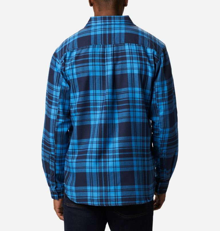 Silver Ridge™ 2.0 Flannel | 464 | 1X Men's Silver Ridge™ 2.0 Flannel Shirt - Big, Collegiate Navy Flannel, back