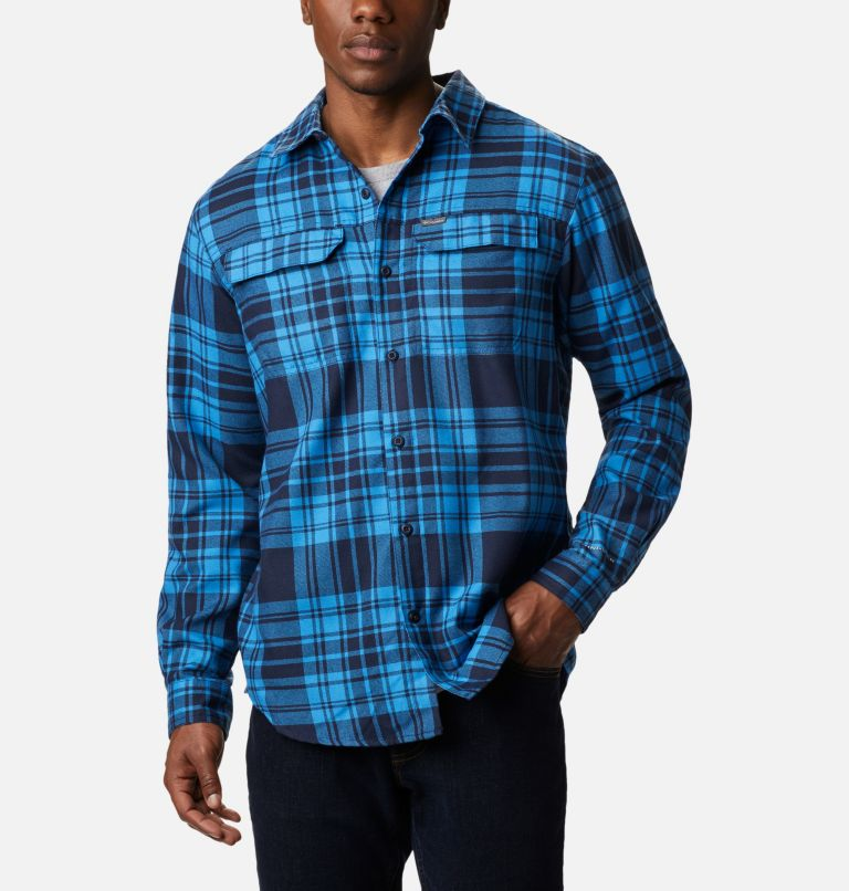 Silver Ridge™ 2.0 Flannel | 464 | 1X Men's Silver Ridge™ 2.0 Flannel Shirt - Big, Collegiate Navy Flannel, front