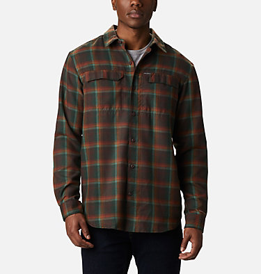 Men's Silver Ridge™ 2.0 Flannel Shirt - Big Silver Ridge™ 2.0 Flannel | 386 | 1X, Red Lodge Ombre Plaid, front