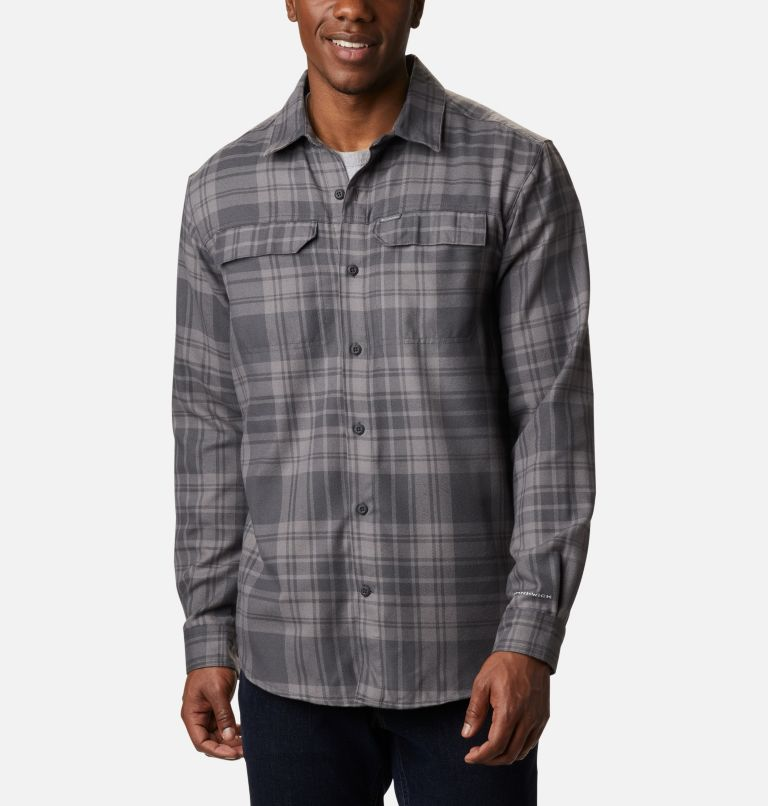 Silver Ridge™ 2.0 Flannel | 011 | 4XT Men's Silver Ridge™ 2.0 Flannel Shirt - Tall, Shark Flannel, front