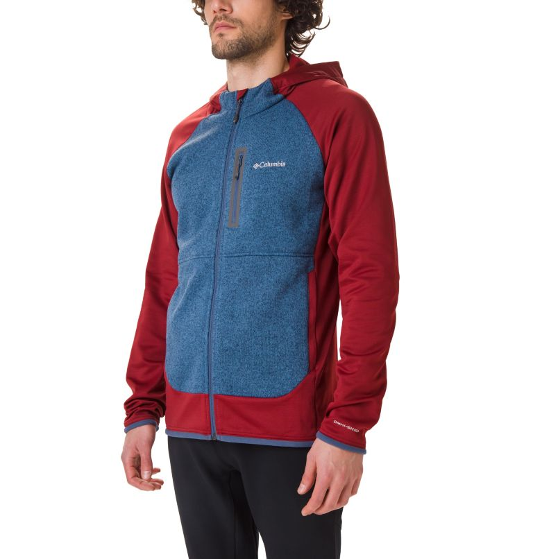 Altitude Aspect™ Hooded Hybrid | 664 | XL Veste Polaire Hybride À Capuche Altitude Aspect™ Homme, Red Jasper, Scout Blue, front
