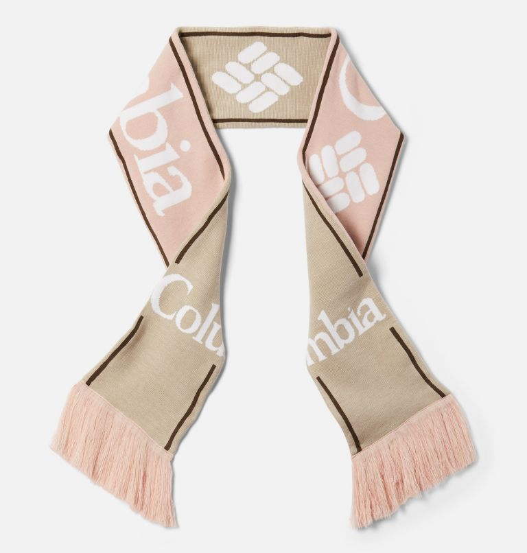 Columbia Lodge™ Scarf | 191 | O/S Columbia Lodge™ Scarf, Chalk, Mineral Pink, front