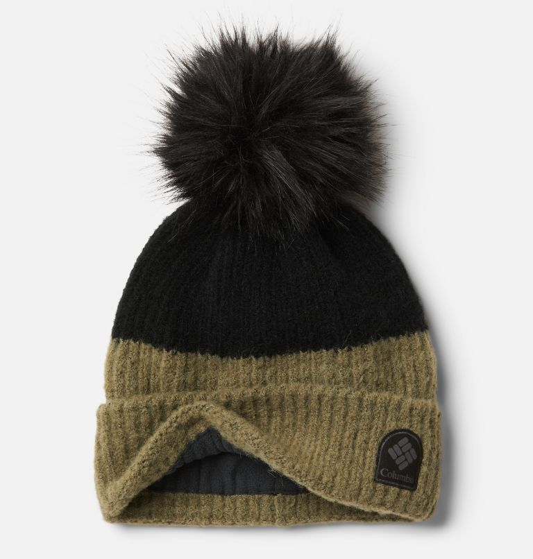 Winter Blur™ Pom Pom Beanie | 397 | O/S Unisex Winter Blur™ Pom Pom Beanie, Stone Green, Black, a1
