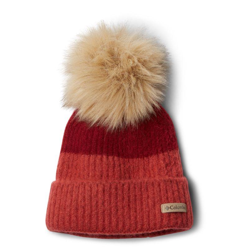 Winter Blur™ Pom Pom Beanie | 607 | O/S Unisex Winter Blur™ Pom Pom Beanie, Beet, Daredevil, front