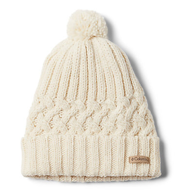 Hideaway Haven™ Unlined Beanie Hideaway Haven™ Unlined Beanie | 584 | O/S, Chalk, Charcoal Heather, front