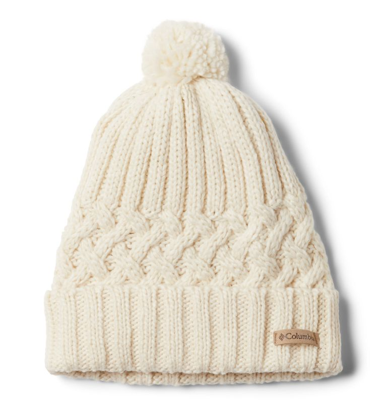 Hideaway Haven™ Unlined Beanie | 192 | O/S Hideaway Haven™ Unlined Beanie, Chalk, Charcoal Heather, front