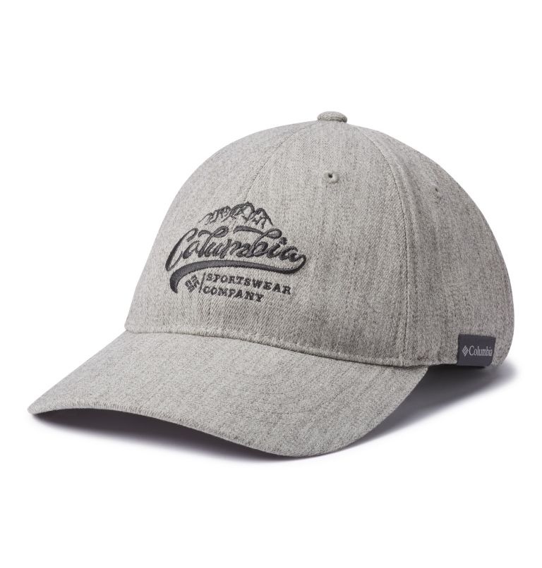 Columbia Lodge™ Adjustable Bac | 039 | O/S Columbia Lodge™ Adjustable Back Ball Cap, Columbia Grey Hthr, Columbia Mt. Patch, front