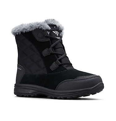 Women's Ice Maiden™ Shorty Boot ICE MAIDEN™ SHORTY | 286 | 10, Black, Columbia Grey, 3/4 front