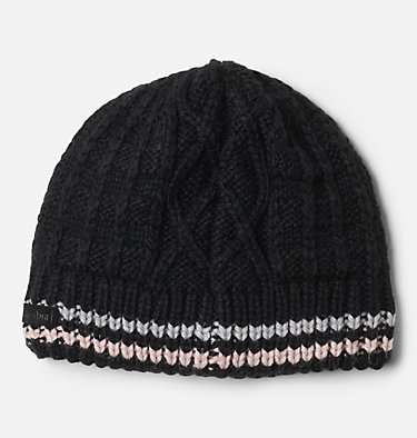 Kids' Cabled Cutie™ Beanie Cabled Cutie™ Youth Beanie | 618 | L/XL, Black, Columbia Grey, Mineral Pink, back