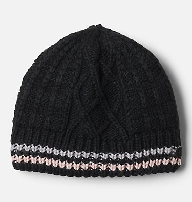 Kids' Cabled Cutie™ Beanie Cabled Cutie™ Youth Beanie | 618 | L/XL, Black, Columbia Grey, Mineral Pink, front