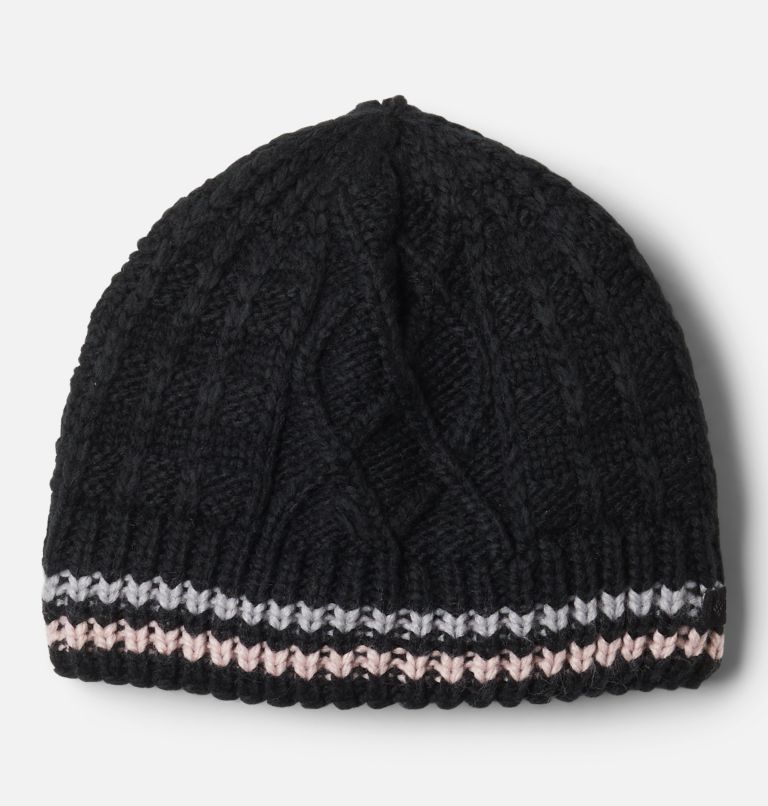 Cabled Cutie™ Youth Beanie | 011 | S/M Kids' Cabled Cutie™ Beanie, Black, Columbia Grey, Mineral Pink, front