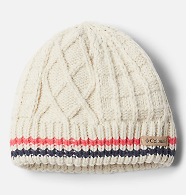 Kids' Cabled Cutie™ Beanie Cabled Cutie™ Youth Beanie | 618 | L/XL, Chalk, Bright Geranium, Nocturnal, front