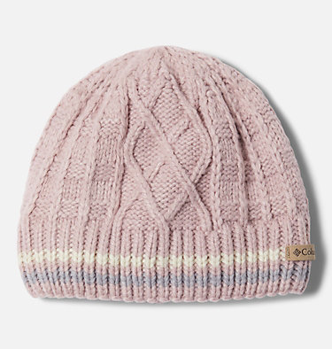 Kids' Cabled Cutie™ Beanie Cabled Cutie™ Youth Beanie | 618 | L/XL, Mineral Pink, Chalk, Columbia Grey, front