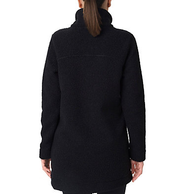 Women's Panorama Long Fleece Coat Panorama™ Long Jacket | 472 | XS, Black, back