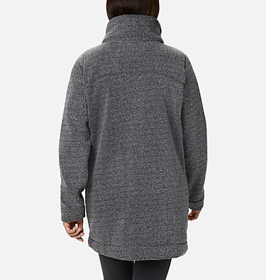 Women's Panorama Long Fleece Coat Panorama™ Long Jacket | 472 | XS, Charcoal Heather, back