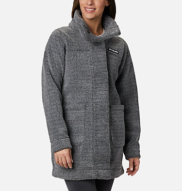 Women's Panorama Long Fleece Coat Panorama™ Long Jacket | 472 | XS, Charcoal Heather, front