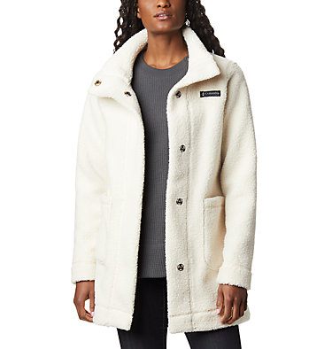 Women's Panorama Long Fleece Coat , front