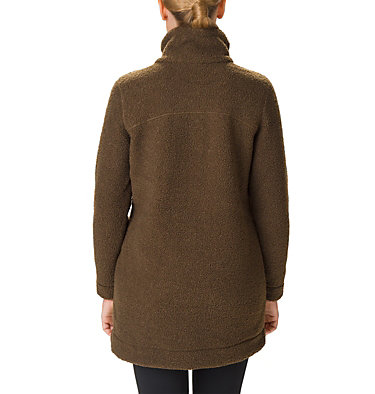 Women's Panorama Long Fleece Coat Panorama™ Long Jacket | 472 | S, Olive Green, back