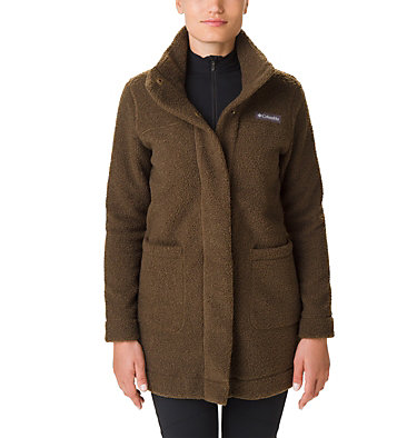 Women's Panorama Long Fleece Coat Panorama™ Long Jacket | 472 | S, Olive Green, front