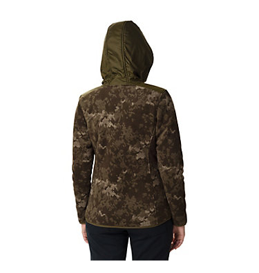 Women's Winter Pass Print Fleece Full Zip Jacket Winter Pass™ Print Fleece Full | 472 | S, Olive Green CloudsCamo Print,Olive Green, back