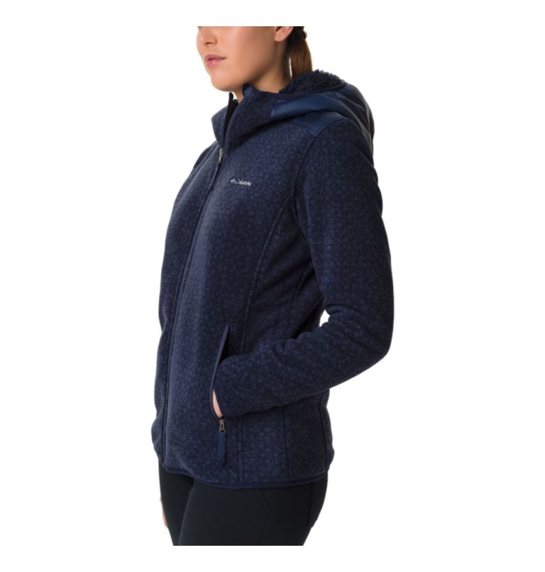 Women's Winter Pass Print Fleece Full Zip Jacket Women's Winter Pass Print Fleece Full Zip Jacket, a1