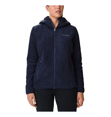 Women's Winter Pass Print Fleece Full Zip Jacket , front